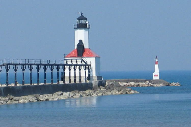 The Michigan City Lighthouse and Pier. (Photo by Nancy Addie of LaPorte, IN) Built in , the lighthouse has become the most popular symbol of Michigan City, and is the only public operating lighthouse in Indiana/5(18).