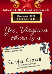 Yes, Virginia, there is a Santa Claus @ LaPorte Little Theatre | La Porte | Indiana | United States