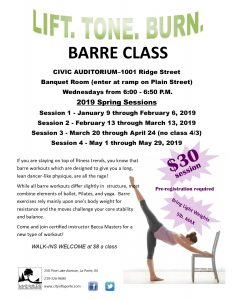 Barre Class Spring Session 1 @ LaPorte Civic Auditorium | La Porte | Indiana | United States