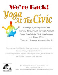 Yoga at the Civic @ LaPorte Civic Auditorium | La Porte | Indiana | United States