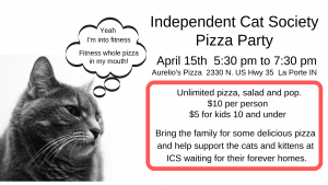 Independent Cat Society Pizza Party @ Aurelio's Pizza | La Porte | Indiana | United States