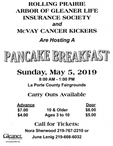 LaPorte County Relay for Life Pancake Breakfast @ LaPorte County Fairgrounds | La Porte | Indiana | United States