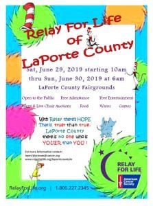 24th Annual Relay For Life of LaPorte County @ LaPorte County Fairgrounds | La Porte | Indiana | United States